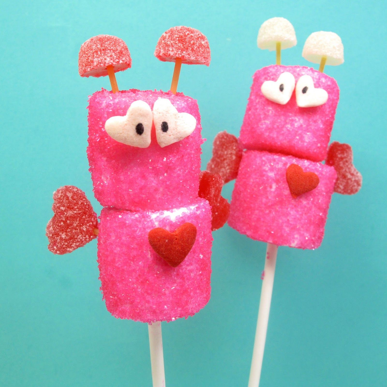 marshmallow love bugs for Valentine's Day - the decorated cookie