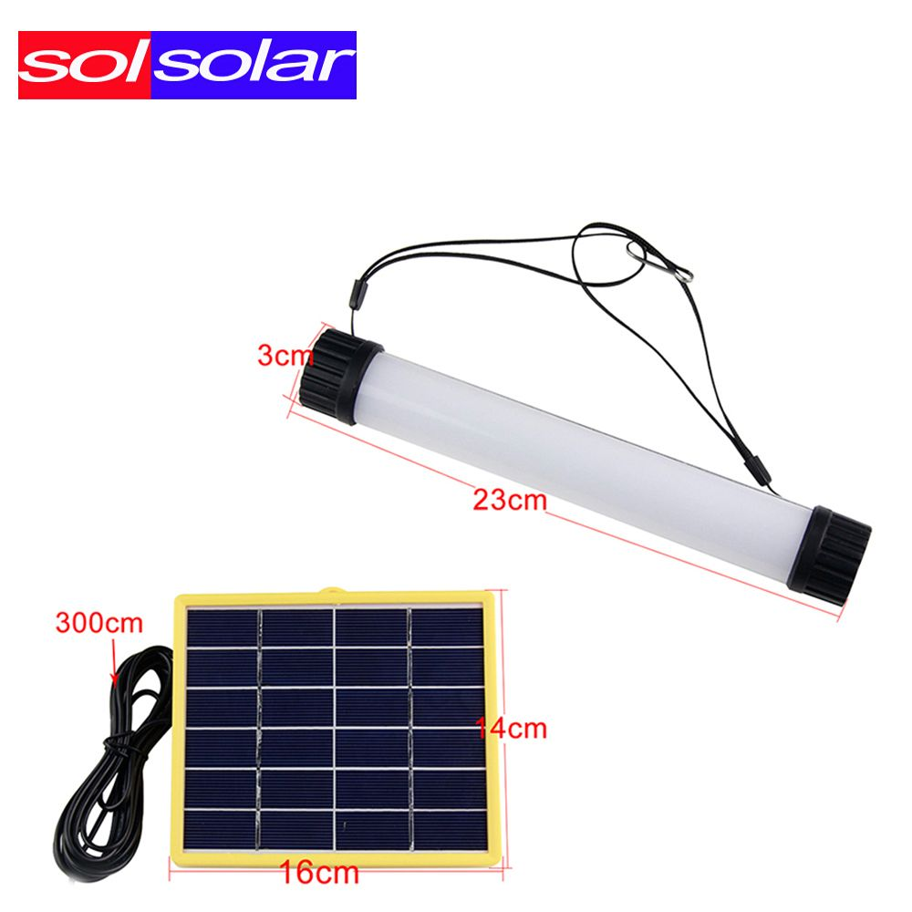 Off The Grid Living 3 W Multifunctional Solar Power Led Tube Lamp Usb Rechargeable Solar Instructions Solar Panel For Outdoor Cam Tube Lamp Led Tubes Power Led