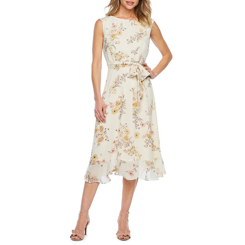 Studio 1 Sleeveless Floral Fit & Flare Dress | Dresses, Fit