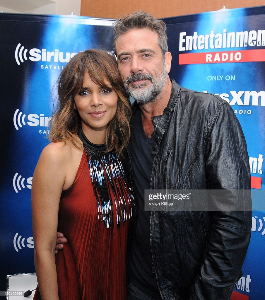 Actors Halle Berry and Jeffrey Dean attend SiriusXM