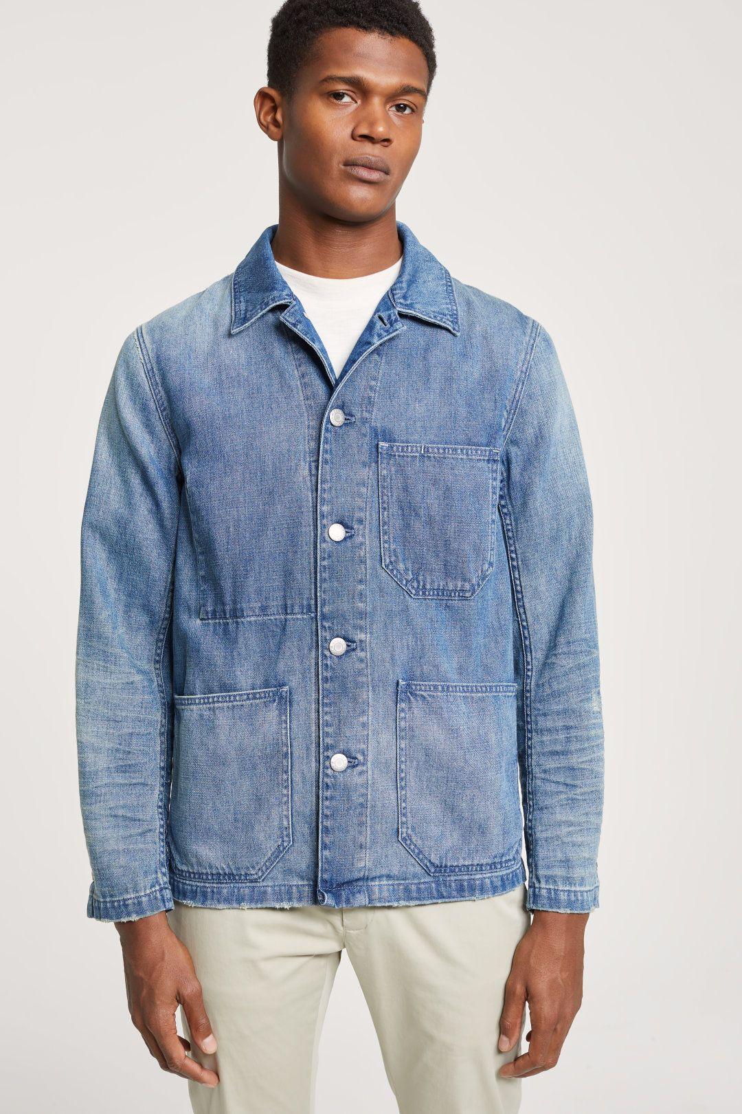 Worker Denim Jacket Closed Denim Jacket Men Casual Outerwear Mens Outfits [ 1620 x 1080 Pixel ]