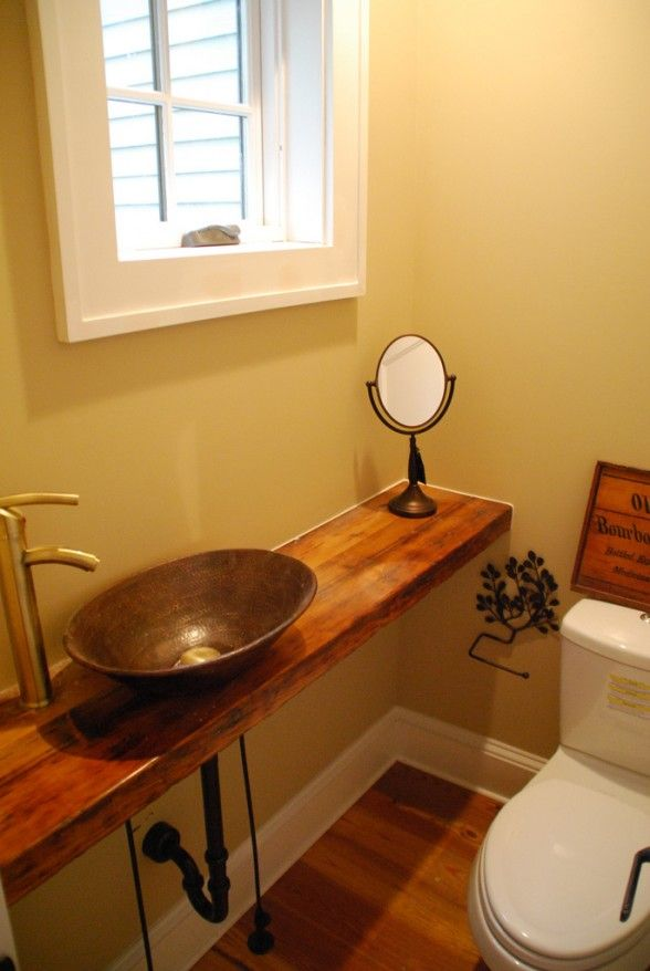 Small half bathrooms on pinterest half bathroom remodel bathroom mirror cabinet and half - Small space bathroom sinks style ...