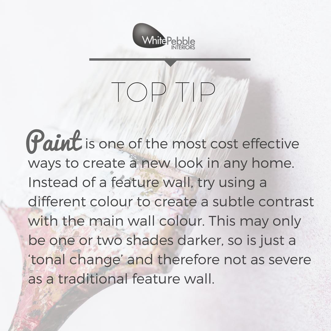 Want a new look?Go for new paint! #whitepebbleinteriors # ...