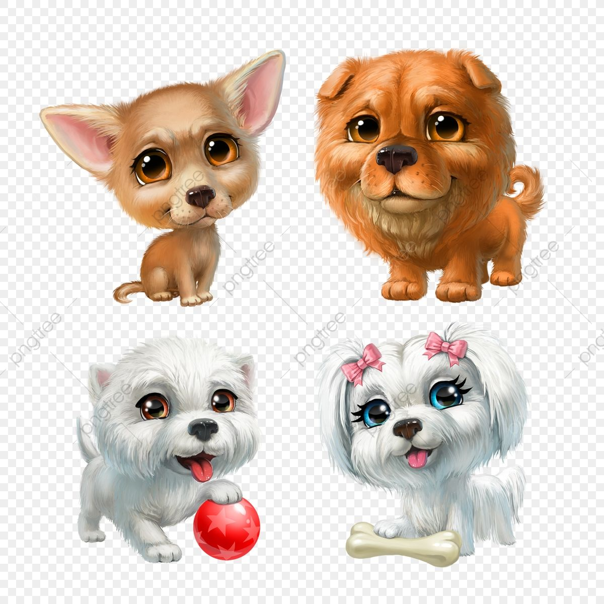 Set Of Puppies Smile Flat Character Png Transparent Clipart Image And Psd File For Free Download Puppy Clipart Cat Artwork Animal Clipart