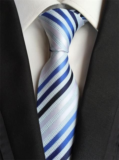 Mantieqingway Striped Silk Neck Ties