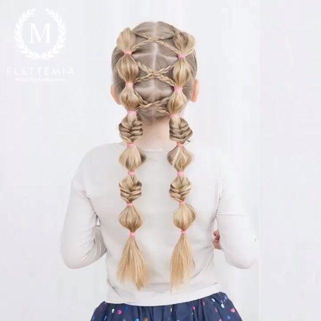 BILDESERIE: Kryssede treerfletter og boblemusefletter / PICTORIAL: Crisscrossed three stand braids and bubble pigtails