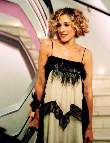 Carrie Bradshaw Book Party Love This Dress Carrie Bradshaw Hair