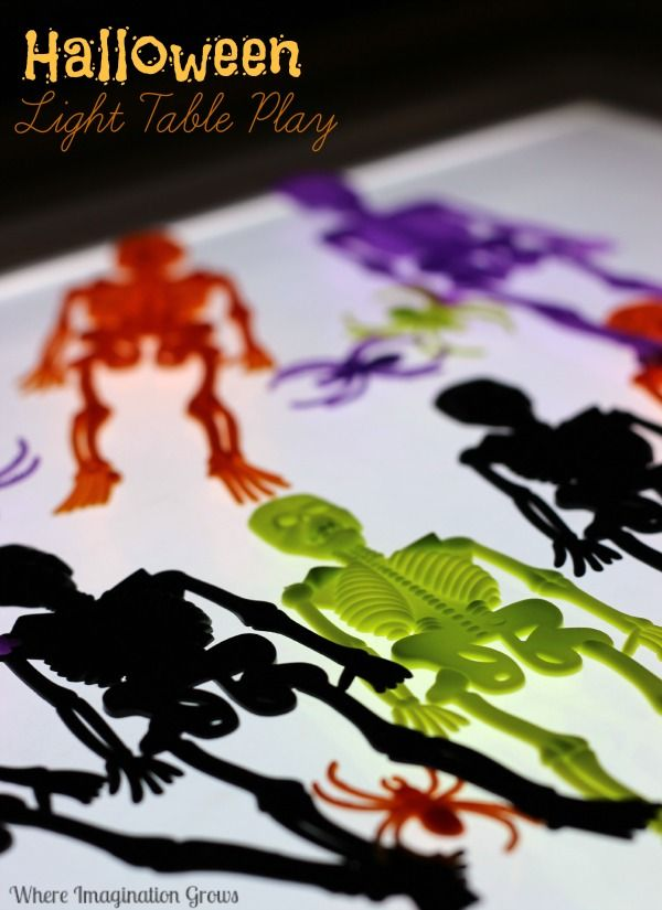 Halloween Sorting & Pattern Making on the Light Table | Motor ...