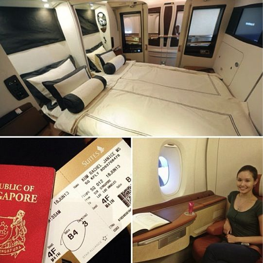 Loving the long but comfortable flight to Vegas. A380 Suite class.