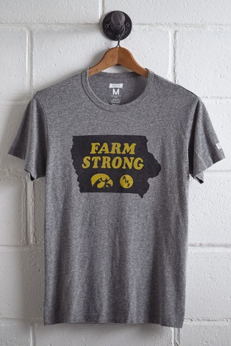 Tailgate Iowa Farm Strong T-Shirt