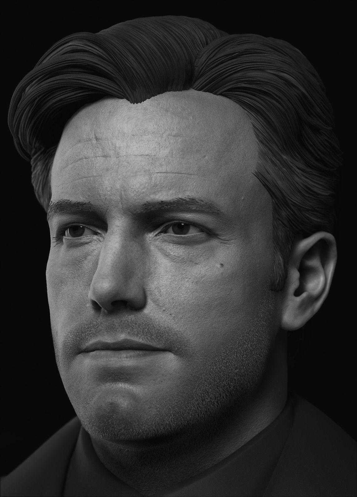 Ben Affleck Vimal Kerketta On Artstation At Https Www Artstation Com Artwork Qa083 Ben Affleck Batman Superman Dc Comics Zbrush Likeness