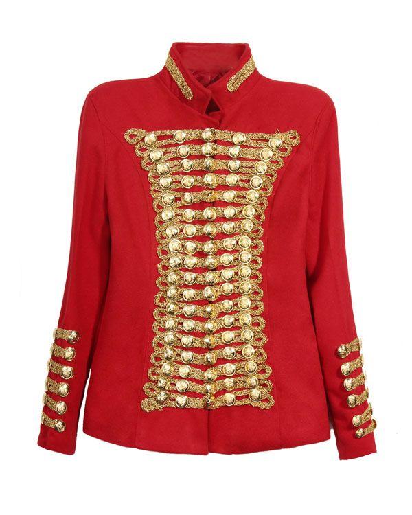 Rote vintage jacke