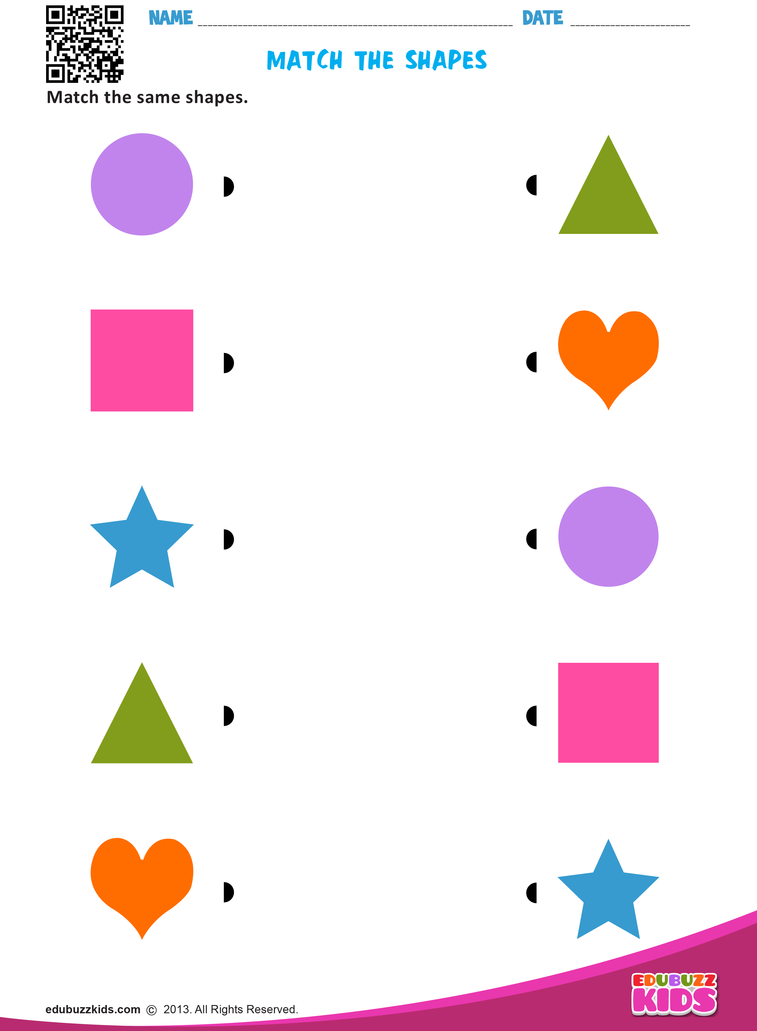Match The Shapes Shape Activities Preschool Kids Worksheets Preschool Color Worksheets For Preschool [ 3374 x 2480 Pixel ]