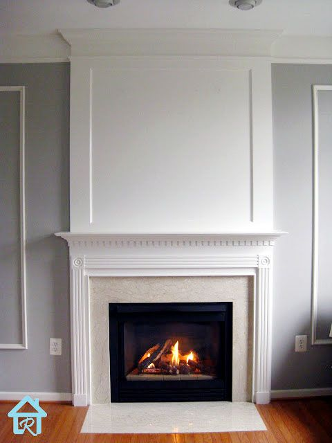 Adding Visual Interest and Height to your Fireplace Moldings