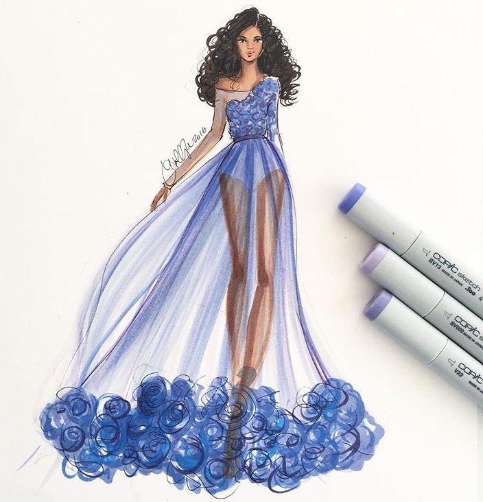 dress design sketch