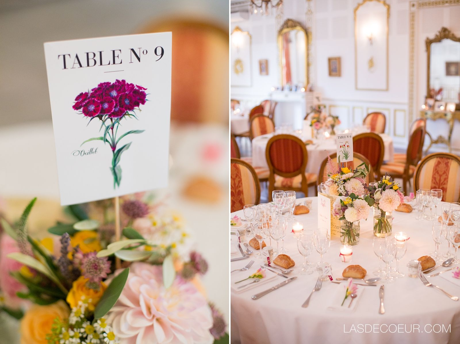Déco mariage Champêtre - Centre de table - Mars & Venus Mariages ...