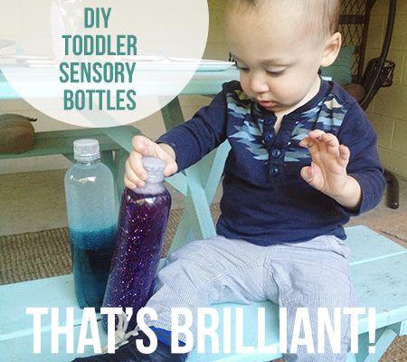 How To Create DIY Sensory Bottle Toddler Toys | Disney Baby