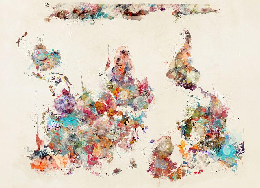 World map watercolor als leinwandbild von brian buckley juniqe world map watercolor als leinwandbild von brian buckley juniqe gumiabroncs Gallery