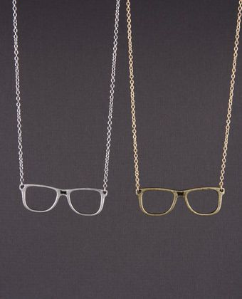 """""""I spy"""" necklace from lulus.com. $11. I wish I didn't wear glasses so that I could pull this necklace off."""