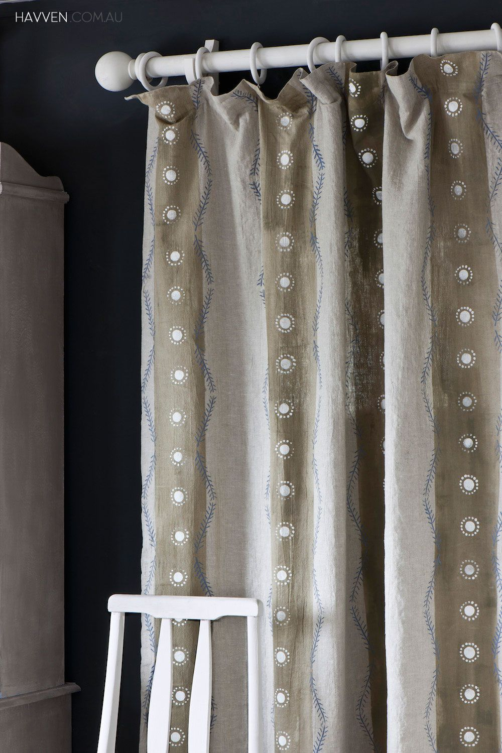 How To Dye And Stencil Curtains Using Chalk Paint By Annie Sloan
