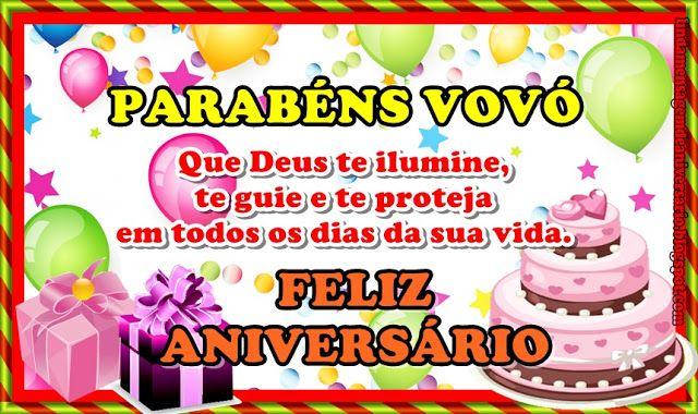 Feliz Aniversário Vovó Feliz: PARABÉNS VOVÓ Que Deus Te Ilumine, Te Guie E Te Proteja Em