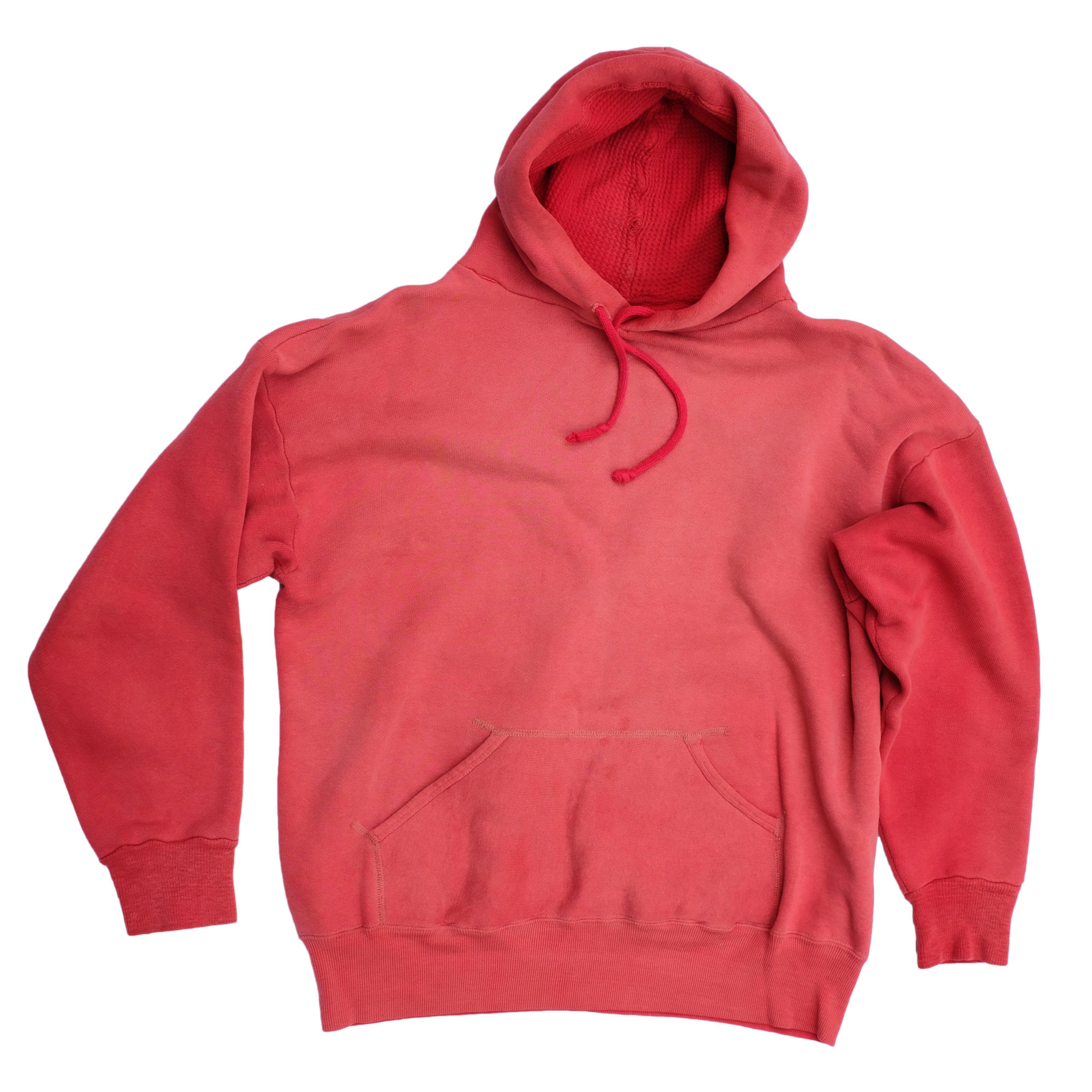 50s 60s Sun Faded Red Hoodie Vintage Vintage Hoodies Hoodies Red Hoodie