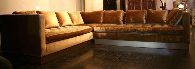 Tremendous Custom Gold Silk Velvet Sectional Sofa Usa 2000 Eclectic Uwap Interior Chair Design Uwaporg