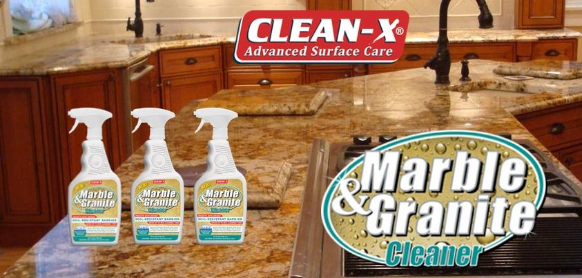 how to clean water deposits from granite