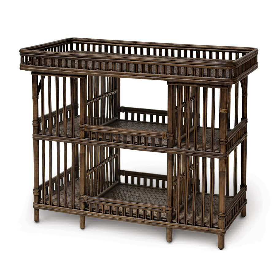 Palecek President S Shelf Bar 7768 Sale Plus Free Factory Direct Nation Wide In Home Delivery And No Sales Wicker Bar Stools Home Interior Design Wicker Tray