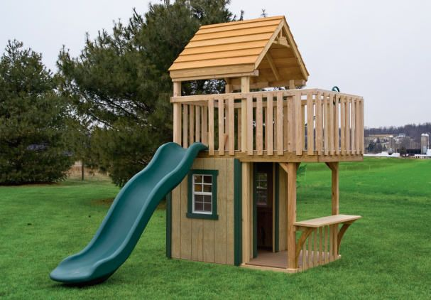 Image Detail For  Play Set Trading Post | Wood Childrens Outdoor Playset  (swing Set