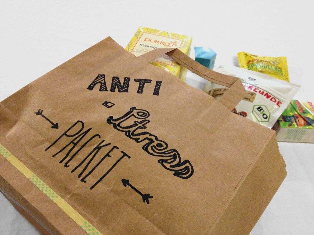 kleines Anti Stress Paket als Geschenk fr Freunde