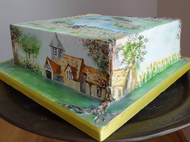 O Trail pintada! - Cake por Fifi Cakes - CakesDecor