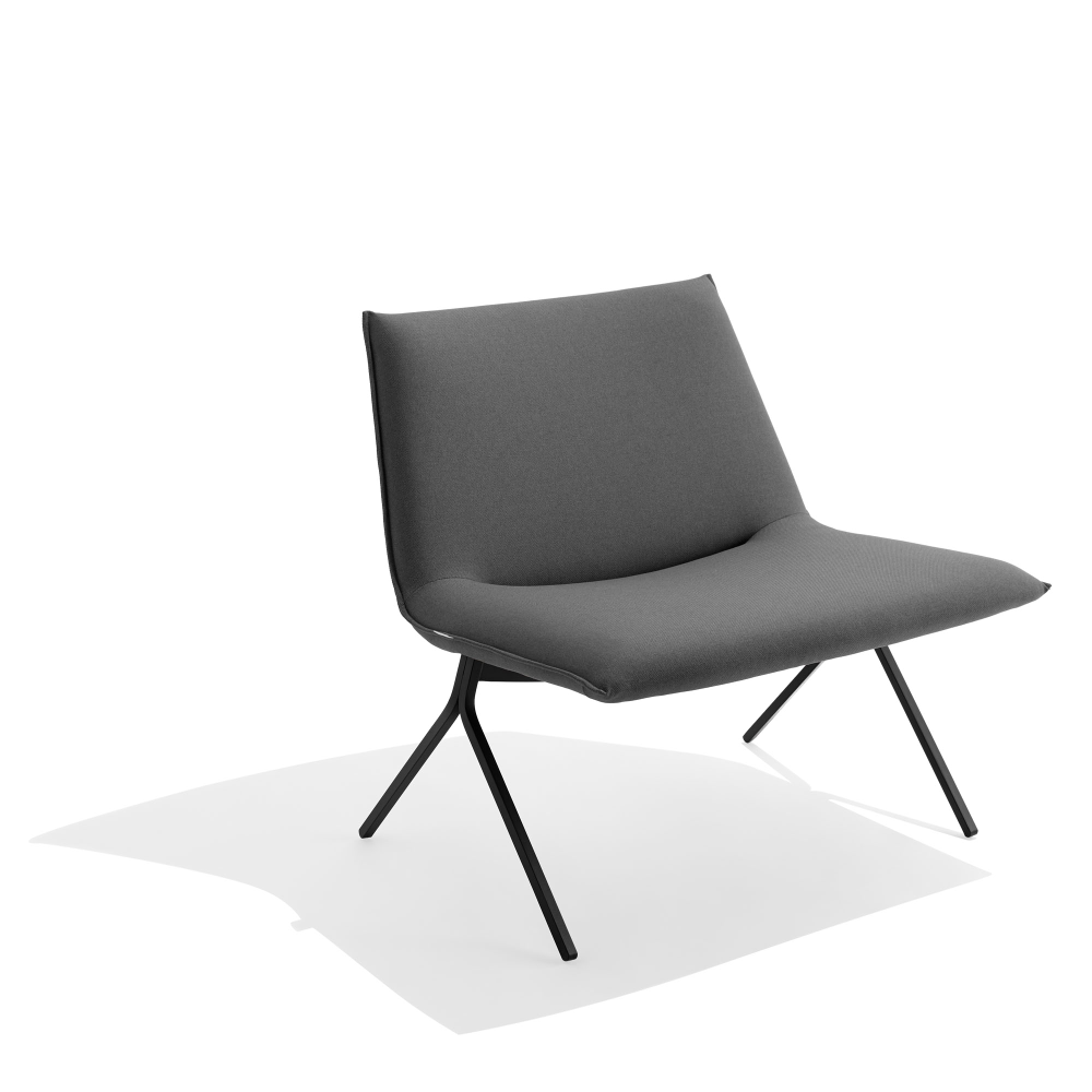 Best Brick Black Meredith Lounge Chair Modern Office 400 x 300