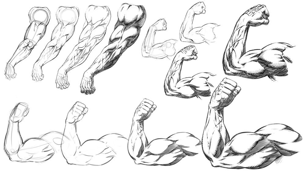 How To Draw And Shade Muscular Arm Poses Comic Book Style Step By Step Comic Book Drawing Comic Book Style Shadow Drawing