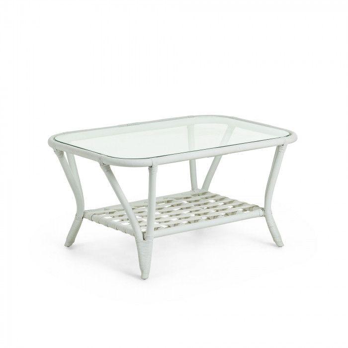 2019 cm en basse Durga en Table et rotin blanc verre 90x60 8mNwn0v