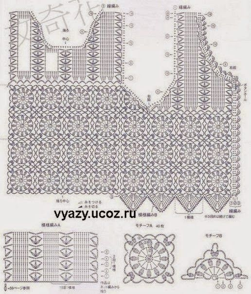Free Crochet Charts and Explanation for Vintage Timeless Vest ...