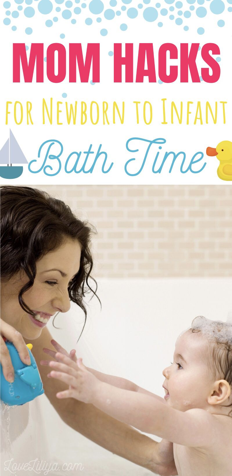 15 Mom Hacks To Know To Make Bath Time Easier Baby Bath Time Baby Bath Newborn