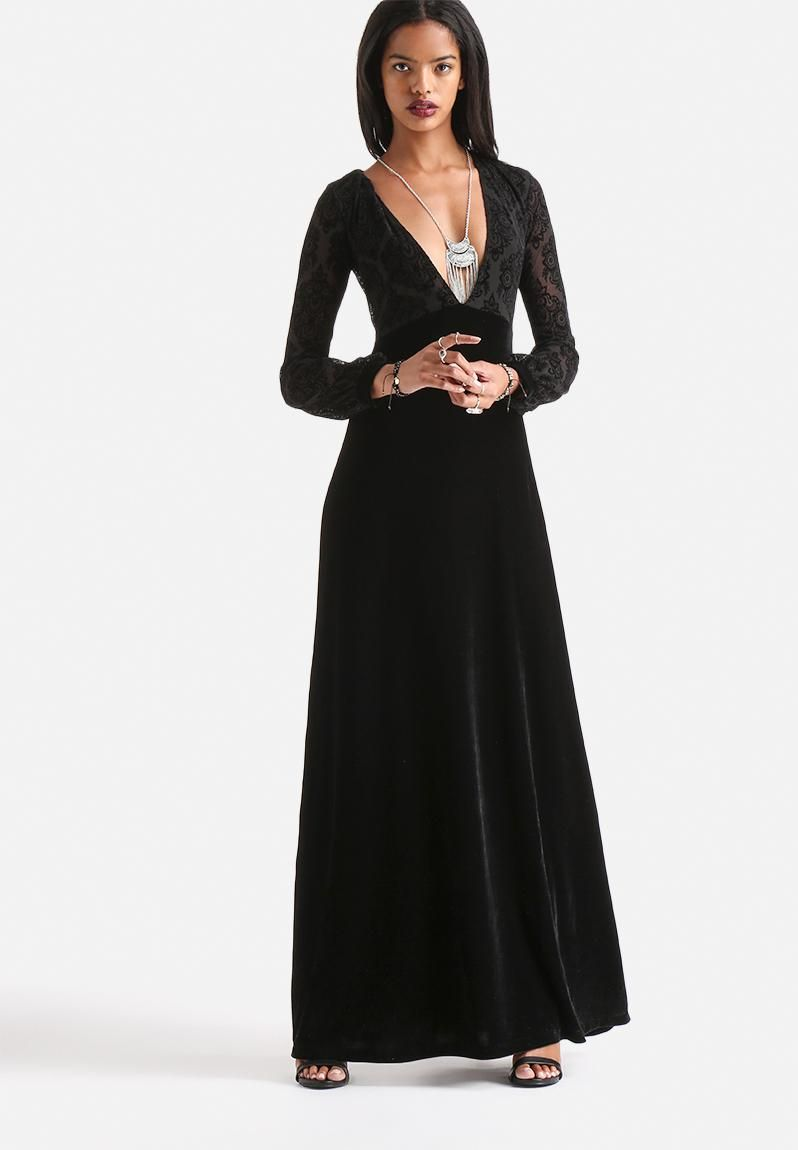 Us femme romantic flocking lace maxi dress lbd pinterest