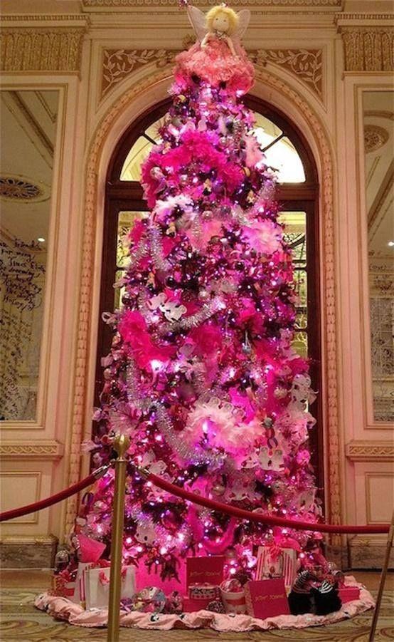 Pink Christmas Tree Mit Bildern Thematische Weihnachtsbaume Christbaumschmuck Rosa Weihnachtsbaum