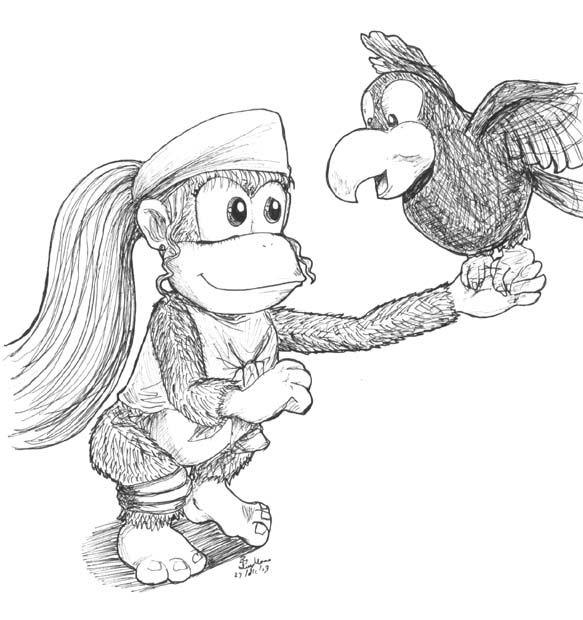 Dixie Kong By Ivymomo On Deviantart Donkey Kong Country Marvel Cartoon Movies Kong