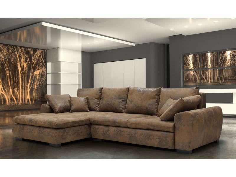 Canapé d angle convertble et réversible 7 places