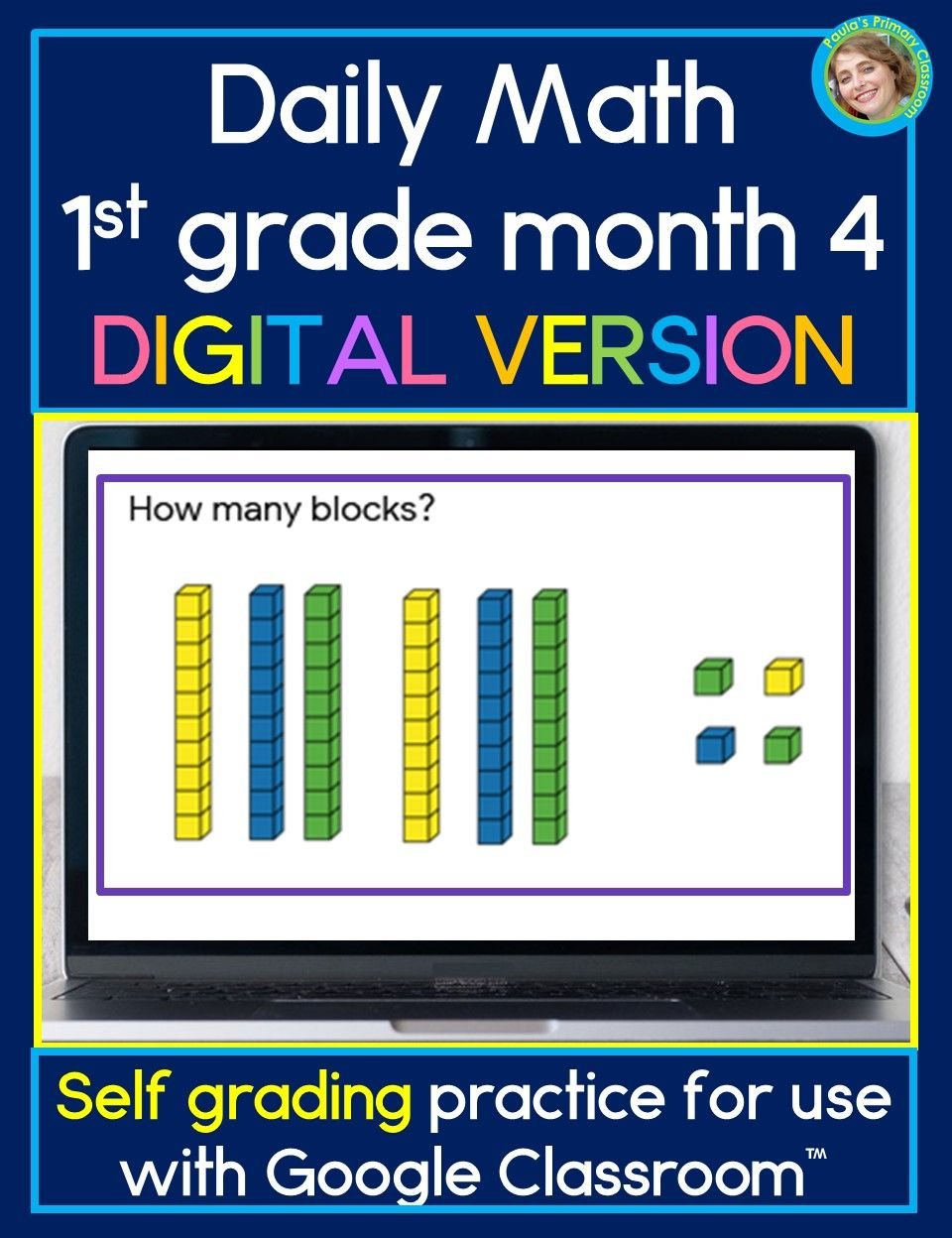 Daily Math First Grade Month 4 For Use With Google Classroom Digital Learning Daily Math Math Daily Math Activities [ 1248 x 960 Pixel ]