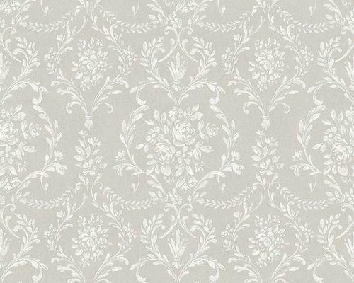 Rw2690 Grey Damask Wallpaper Damask Wallpaper Vintage Floral Wallpapers