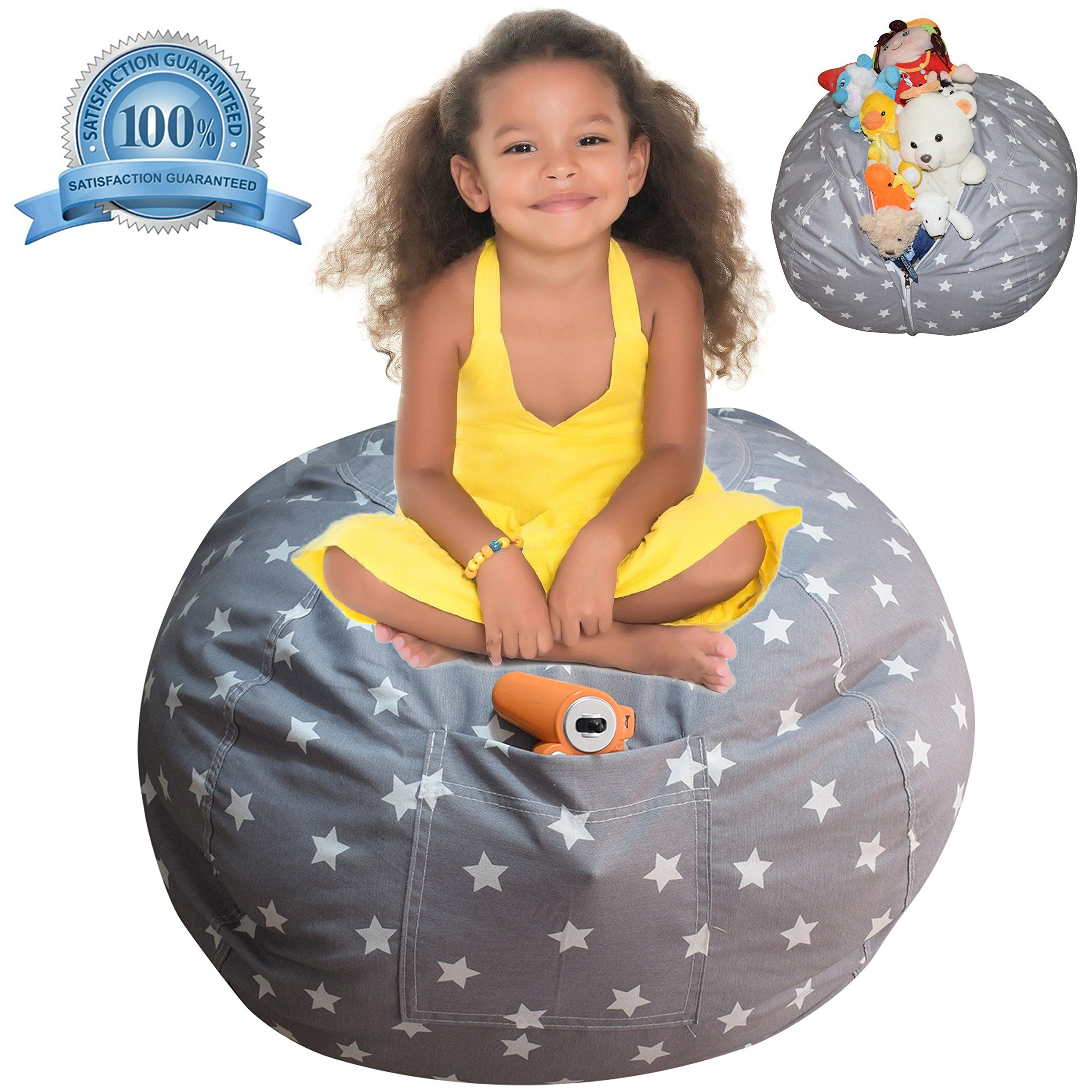 Marvelous Extra Large Stuffed Animal Storage Bean Bag Cover Lab Tested Squirreltailoven Fun Painted Chair Ideas Images Squirreltailovenorg