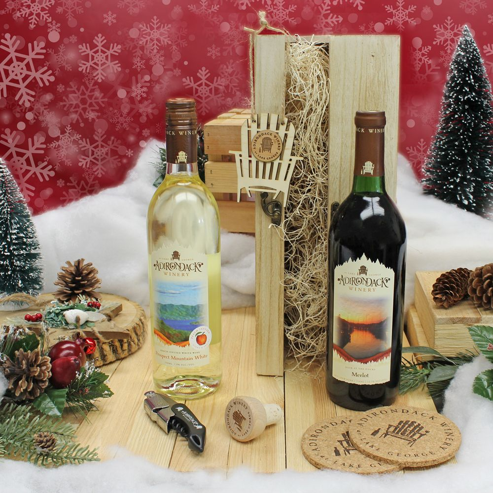 Wooden 2 Bottle Wine Gift Box Wine Gift Boxes Holiday Wine Gift Holiday Wine
