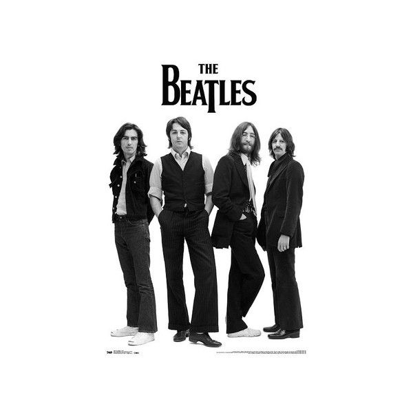 The Beatles Black And White Poster 799 Liked On Polyvore