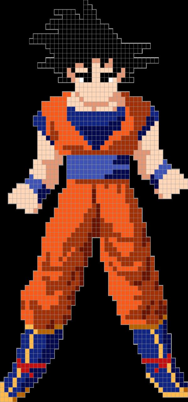 Goku By Heimi0807 Pixel Art Dragon Ball Dragon Ball Z
