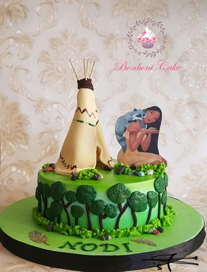 Excellent Pocahontas Cake By Bonboni Cake With Images Pocahontas Cake Personalised Birthday Cards Cominlily Jamesorg