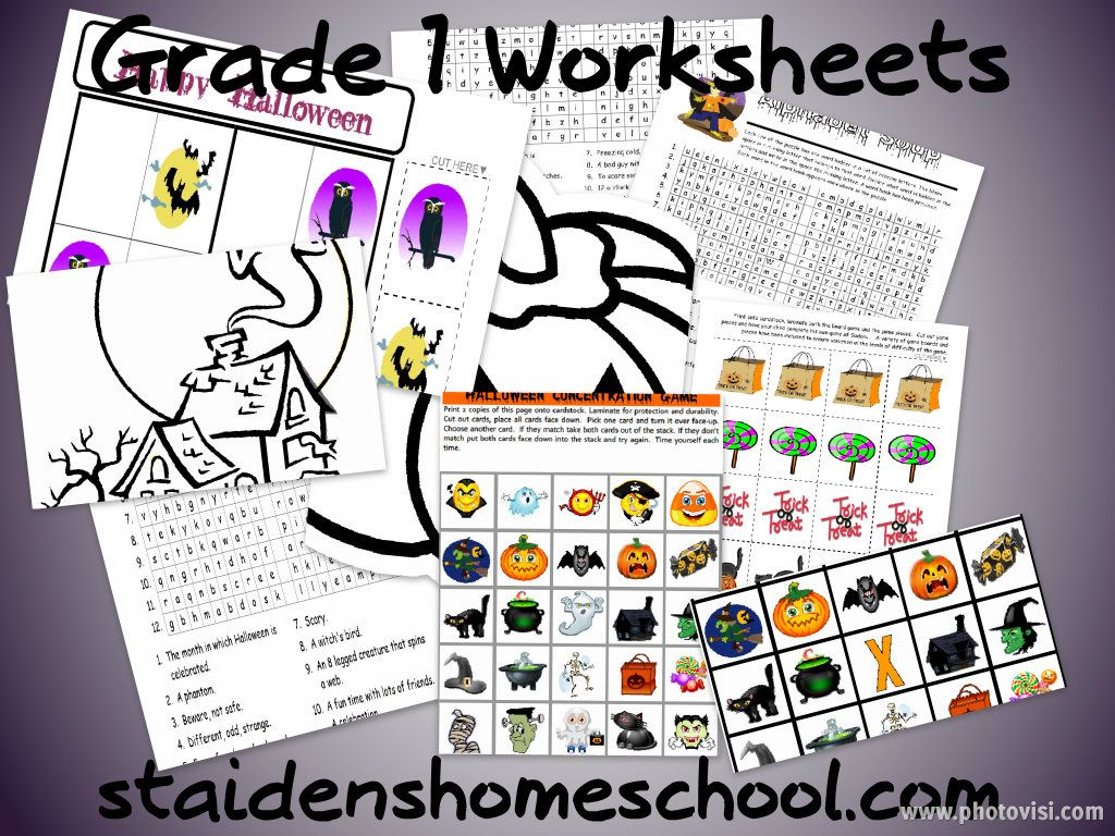 Grade 1 Free Halloween Worksheets Printable Games And Puzzles