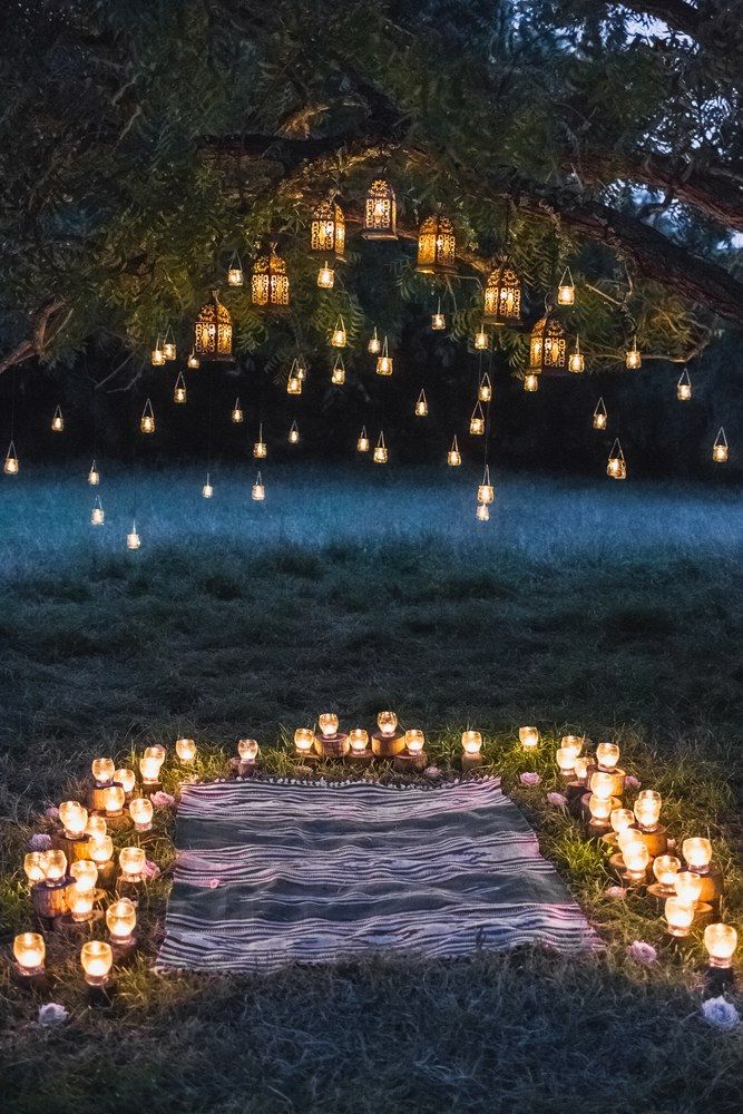 Best Night Wedding Ceremony With A Lot Of Vintage Lamps And 400 x 300